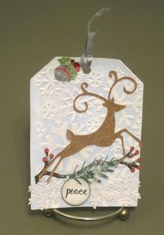 Reindeer Christmas Tag by pink_lady - Cards and Paper Crafts at Splitcoaststampers