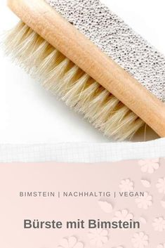 Eine praktische Bürste für Dusche & Bad mit rückseitigem Bimsstein und einer Kordel zum Aufhängen! Rolling Pin, Bad, No Plastic, Pumice, Pretty Designs, Cleaning, News, Crete, Action