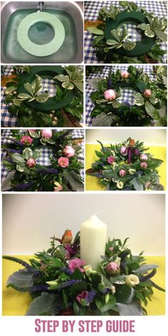 Name: Diana Hieb  Course: Short florist class Level 1  About my work:  A step by step guide of my center piece utilizing accessories of my choice. My teacher Ifra Chaudhri was of great help to me. She took great care to deliver careful and clear examples and instructions on how to apply techniques and achieve the most out of my potential. I am currently an entrepreneur, selling flower arrangement on request and will be doing my first wedding event in Normandy in the month of July 2014.