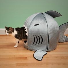 link is not in english but you get the jest...shark kitty cat house..ha ha
