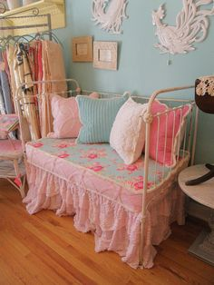 antique shabby chic crib daybed loveseat  by VintageChicFurniture, $895.00