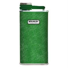 Stanley Classic Flask, Hammertone Green Features: - 18/8 stainless steel won't rust; naturally BPA free - Wide mouth for easy filling and pouring - Integrated lanyard; never lose your cap - Leak proof and fully packable - Single Wall Size: 8 oz