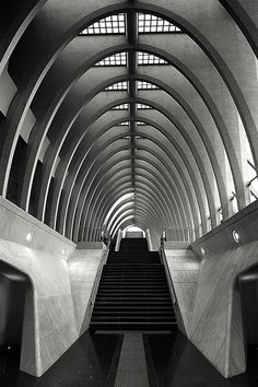 Liege's train station Les Guillemins, designed by Spanish architect & engineer Santiago Calatrava.