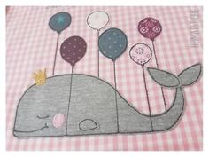 Embroidery motif: whale with balloons an absolute homeland stitch … – Kids Clothing Embroidery Motifs, Types Of Embroidery, Embroidery Patches, Diy Embroidery, Embroidery Files, Machine Embroidery, Brother Embroidery, Crochet Instructions, Embroidery For Beginners