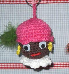 Zwarte Piet sleutelhanger
