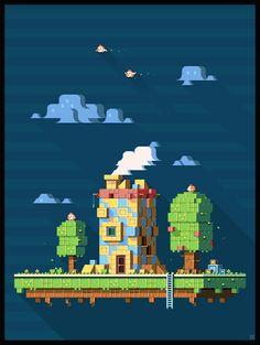 Title: Brickhouse Island experimental tileset Pixel Artist: Mrmo Tarius