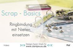 Scrap-Basics|Ringmechanik mit Nieten einsetzen