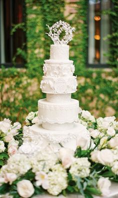 Layers of lace and romantic elegance! Lace spells romance, drama and tradition, so it's no wonder it has become a favorite element for both cake designers and brides-to-be. If you are planning to wear a lace wedding dress then inspiring your cake on your bridal gown is a marvelous way to create cohesiveness on your read more...