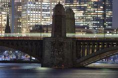 Longfellow Bridge over Charles River at night. DiscoverTheCharles.com