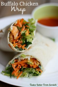 Buffalo Chicken Wrap on MyRecipeMagic.com
