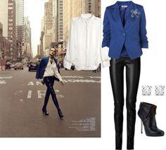 """Blue Jacket"" by gailschurman on Polyvore"
