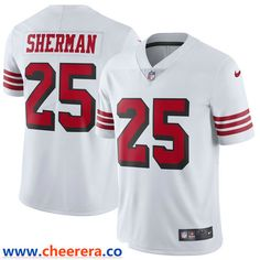 Men's Nike Richard Sherman White San Francisco Color Rush Vapor Untouchable Limited Player Jersey - Jerseys For Cheap Richard Sherman, San Francisco 49ers, Color Rush, Shopping Lists, Nfl Jerseys, Nike Men, Like4like, How To Wear, Shopping