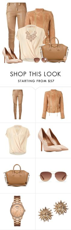 """Bottom Series 6/6: Leather Pants (OUTFIT ONLY!) - Contest!"" by asia-12 ❤ liked on Polyvore featuring Balmain, Miss Selfridge, Salvatore Ferragamo, Givenchy, Stella & Dot, GUESS, Versace and Charlotte Russe"