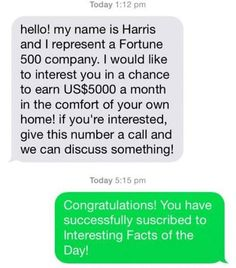 Guy Perfectly Turns the Tables on a Text Spammer !! LMAO!