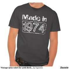 Vintage 1964 Aged to perfection t shirt for Birthday in Personalizable age year. Customize text to make it a perfect gift. Present for men: brother, husband, uncle, grandpa etc. Cool distressed look design. Cute present idea for forty year old man. 40th Bday Ideas, 40th Birthday Parties, Man Birthday, Birthday Ideas, Birthday Jokes, 50th Party, Aged To Perfection, Dad To Be Shirts, Shirt Style
