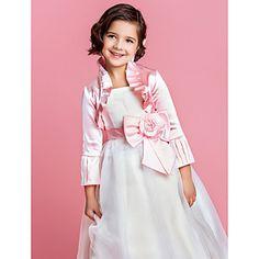 Delicado de manga larga de raso Flower Party Girl / de la boda chaqueta / abrigo (más colores) – EUR € 11.09