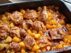OBED 3v1: Kuracie stehienka, zemiaky a skvelá omáčka na jednom plechu!
