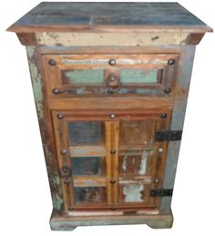 Recycle Wooden Cabinet. Metal Rivets. Jodhpur Furniture | Recycle Wood ,  Reclaimed Timber Furniture Of Jodhpur | Pinterest | Jodhpur, Cafe Bar And  Modern ...