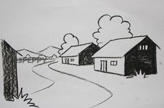 Fine Arts Perspective Drawing - How to Draw A Perspective House