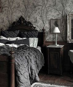 So tired of French prairie with all the white linen. A bit of grey, more glam.