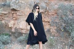Total black dress - kimono by Anthé c o l l e c t i o n  Find our page on instagram : Anthe_collection WWW.ANTHE.GR