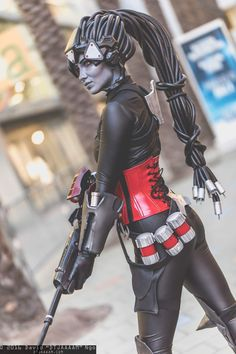 Cosplayer: Ladee Danger. Country: United States. Cosplay: Noire Widowmaker from Overwatch. Photo by: David Ngo Photography. https://m.facebook.com/LadeeDanger/ @ladeedanger