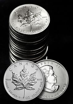 The coins are known for their magnificent Maple Leaf design and have been intricately detailed by the craftsmen at the Royal Canadian Mint. If you take the entire series from 1988 to date and laid them all out, you can actually see the age progression of the Queen, one of the more unique design details that is exclusive to the Silver Canadian Maple Leafs.  Best of all, Silver Canadian Maple Leafs are one of the purest forms of Silver that you can acquire from any Mint anywhere in the world.