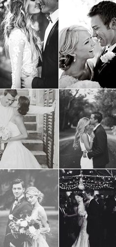 romantic black and white wedding photo ideas