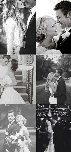 romantic black and white wedding photo ideas