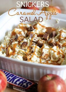 Cooking Up Crafts!: Snickers Caramel Apple Salad