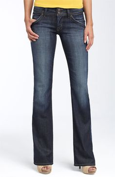 My favorite jeans, ever. Hudson Jeans Signature Bootcut Stretch Jeans (Elm) (Petite) available at #Nordstrom