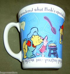 Disney Winnie The Pooh Cooking Coffee Mug Cup Piglet Chef Cook Culinary Arts