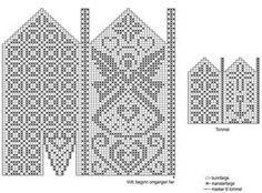strikkesida: Hold hendene varme og velkledde i kulden. Knitting Charts, Knitting Stitches, Knitting Designs, Knitting Needles, Knitting Patterns, Knitted Mittens Pattern, Knit Mittens, Knitted Gloves, Knitting Socks