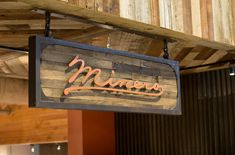 Minero restaurant signs - reclaimed by demant restaurant streets, restaurant signs, shop signs,