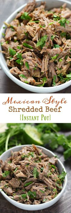 Taco Tuesdays just got more delicious with this easy to make Mexican Style Shredded Beef {Instant Pot} recipe that makes the perfect filling for tacos, burritos, and chimichangas #whole30 #paleo cookingwithcurls.com