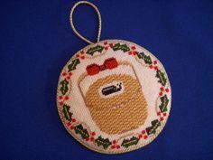 Nantucket Christmas Basket Ornament ~Canvas by Melinda B McAra
