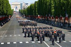 Défilé du 14 Juillet .École de l'air . PARIS
