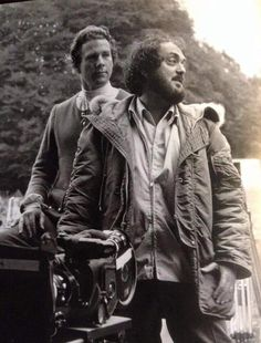 Ryan O'Neal and Stanley Kubrick on the set of Barry Lyndon (1975) #cinema