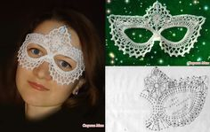 Crochet Mask (in Russian, but with diagram)
