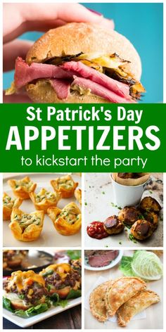 "While Corned Beef or Irish Stew might be the main feast… try some of these favorite St. Patrick's Day Appetizers to get the party started. Corned Beef and Cabbage Sliders An ultimate St Patrick's Day party food. Get the recipe. Colcannon Bites ""Made with collard greens and topped in filo shells. Great appetizer for your..."
