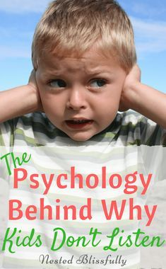 Learn more about the psychology of their mind. Toddlers are famous for their defiance. But, why won't toddlers listen to their parents? Is it a learned behavior? #kidsbehavior #childpsychology #kidspsychology #kids #positiveparenting #rie #respectfulparenting #kidslife #toddler #kidsnotlistening #toddlernotlistening #nestedblissfully #toddlerbehavior #momhelp via @nestedblissfully