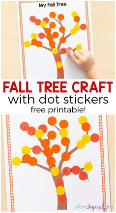 Tree Craft with Dot Stickers Easy fall craft for toddlers and preschoolers. This fall art activity also develops fine motor skills!Easy fall craft for toddlers and preschoolers. This fall art activity also develops fine motor skills! Fall Crafts For Toddlers, Easy Fall Crafts, Autumn Activities For Kids, Art Activities, Kids Diy, Leaf Crafts, Tree Crafts, Decor Crafts, Fun Crafts