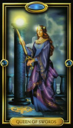 The Gilded Tarot ► Queen of Swords