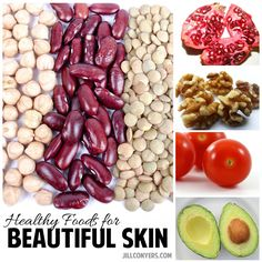 Healthy Foods for Beautiful Skin - Jill Conyers Foods For Healthy Skin, Healthy Smoothies, Healthy Drinks, Healthy Snacks, Healthy Eating, Healthy Recipes, Nutrition Resources, Nutrition Tips, Skin Nutrition