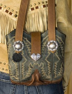 Cowboy Boot Purse ~ They Transform 'Your' Boots into a purse!!....Enjoy