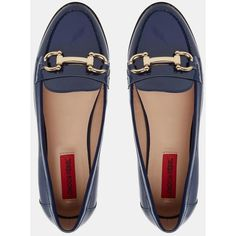 London Rebel Bar Loafers ($52) ❤ liked on Polyvore featuring shoes, loafers, patent shoes, loafers moccasins, patent loafers, loafer shoes and pointed toe loafers