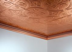 Copper Ceiling ~ Constructed With Copper Ceiling Tiles