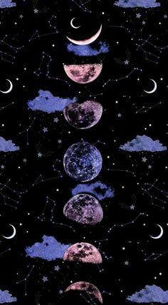 Space Phone Wallpaper, Cute Galaxy Wallpaper, Night Sky Wallpaper, Planets Wallpaper, Purple Wallpaper Iphone, Iphone Wallpaper Tumblr Aesthetic, Black Aesthetic Wallpaper, Scenery Wallpaper, Wallpaper Backgrounds