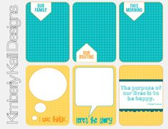 Printable -- Fabulous Journal Cards from Kimberly Kalil. She is one of my favorite designers of Free Smash Printables!