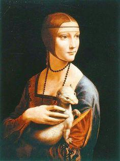 LA DAMA DE ARMIÑO Leonardo da Vinci 1490